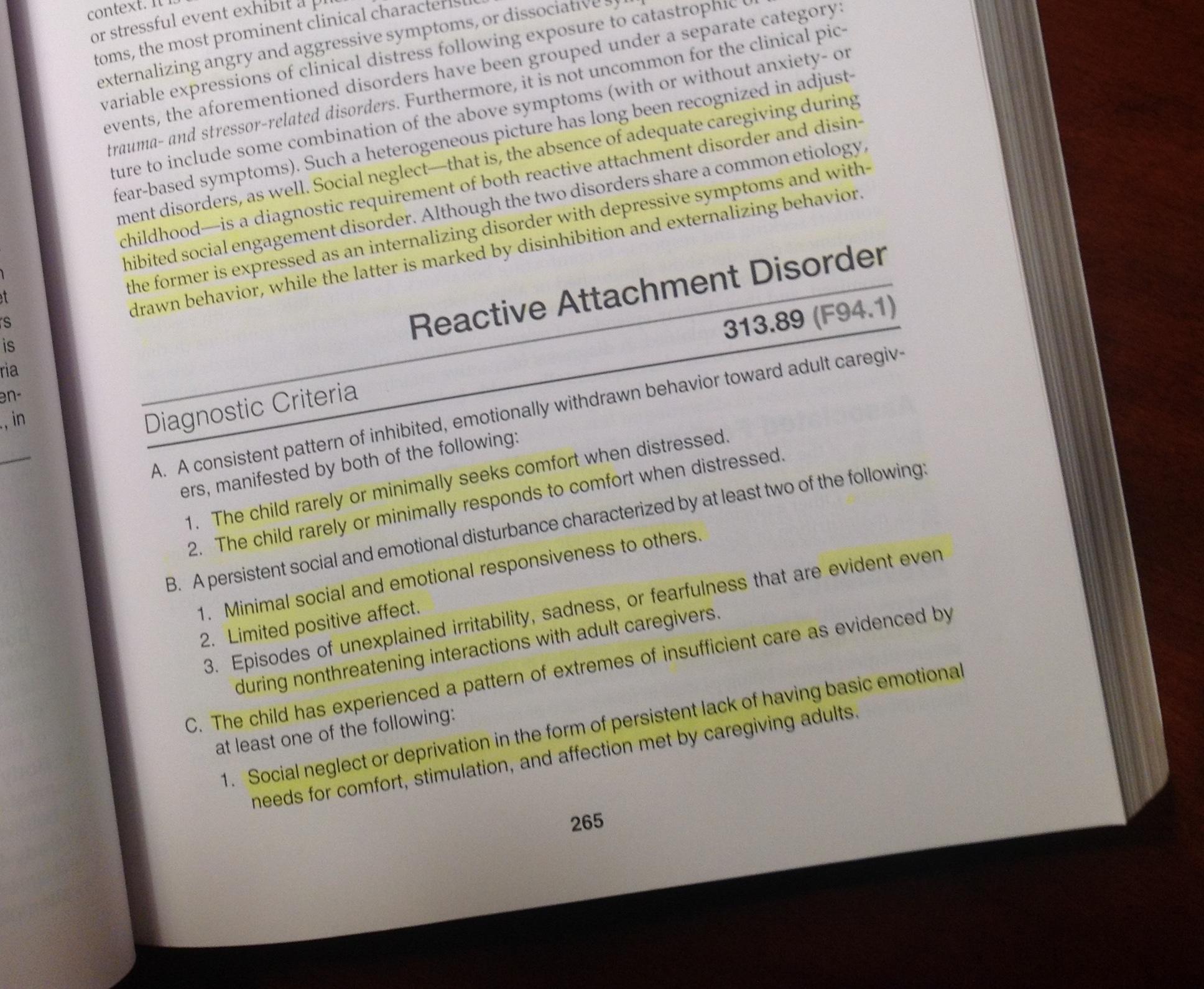 Dsm 5 Rethinking Reactive Attachment Disorder