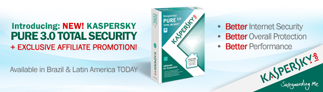 Introducing: NEW! Kaspersky PURE 3.0 Total Security