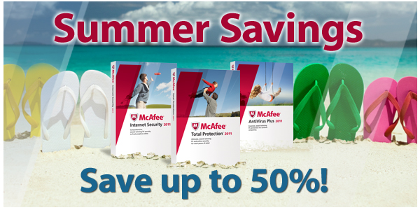 McAfee | Summer Savings | Save up to 50%