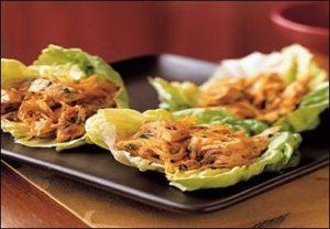 coconut chicken lettuce wraps