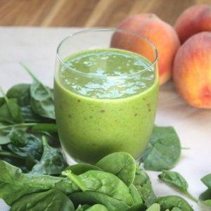 spinach peach smoothie