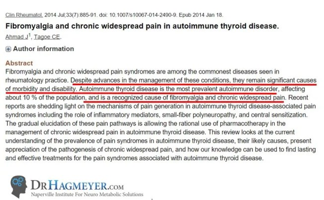 Dr Hameyer Discussus Fibromyalgia and Hashimotos and Autoimmune Disease as a Cause
