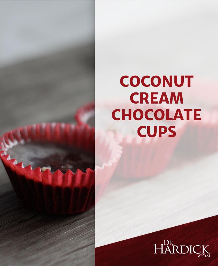 Mini Coconut Cream Chocolate Cups