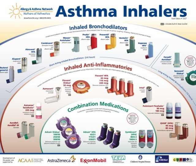 Common Asthma Inhalers