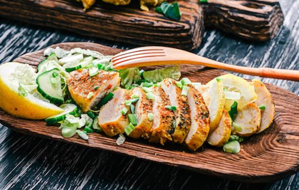 Creamy Fennel Kale Chicken Salad