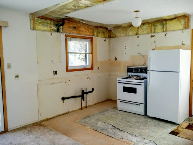 kitchen renovation during