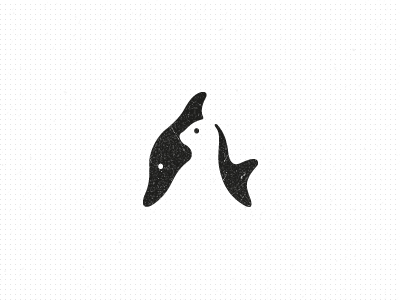 dolphin seal 30 Clever Examples of Negative Space Logos