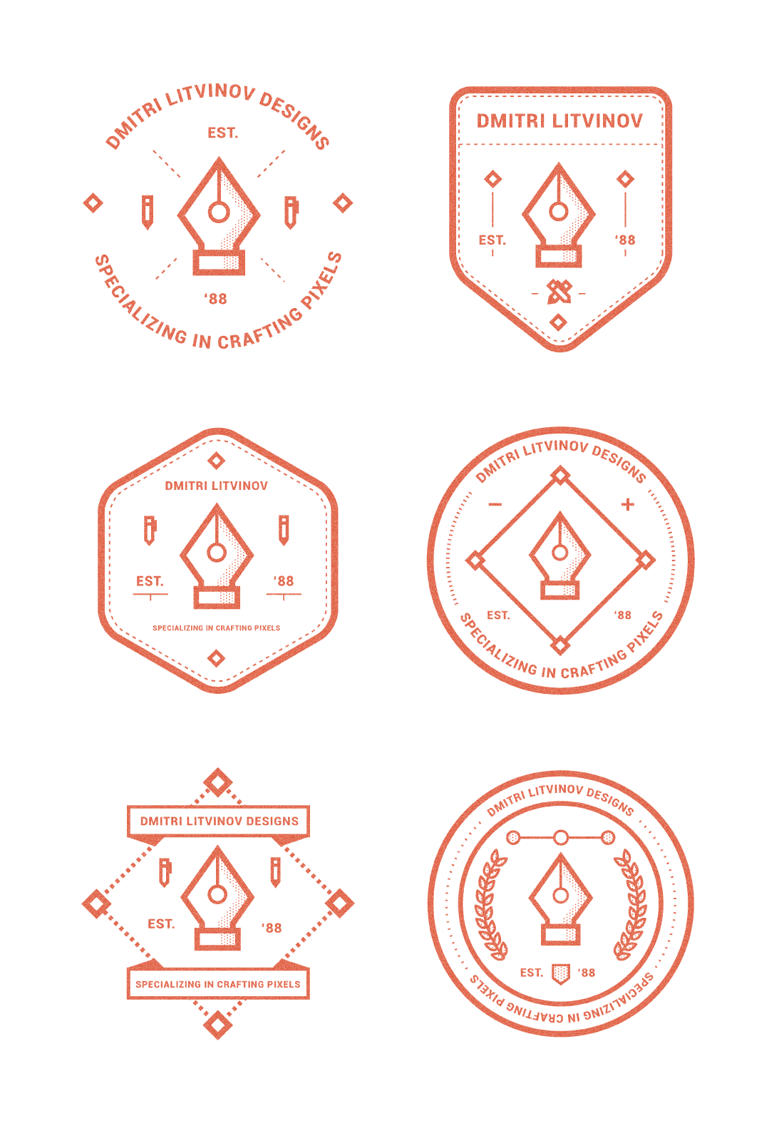 badges long Graphic Design Inspiration