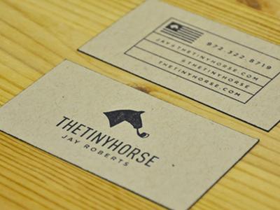 thetinyhorse cards Business Card #1   20 cartes de visite avec effet papier