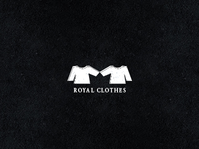 royal clothes 30 Clever Examples of Negative Space Logos