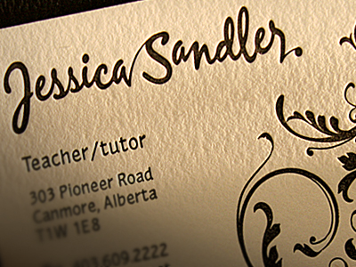 jessica sandler card Business Card #1   20 cartes de visite avec effet papier