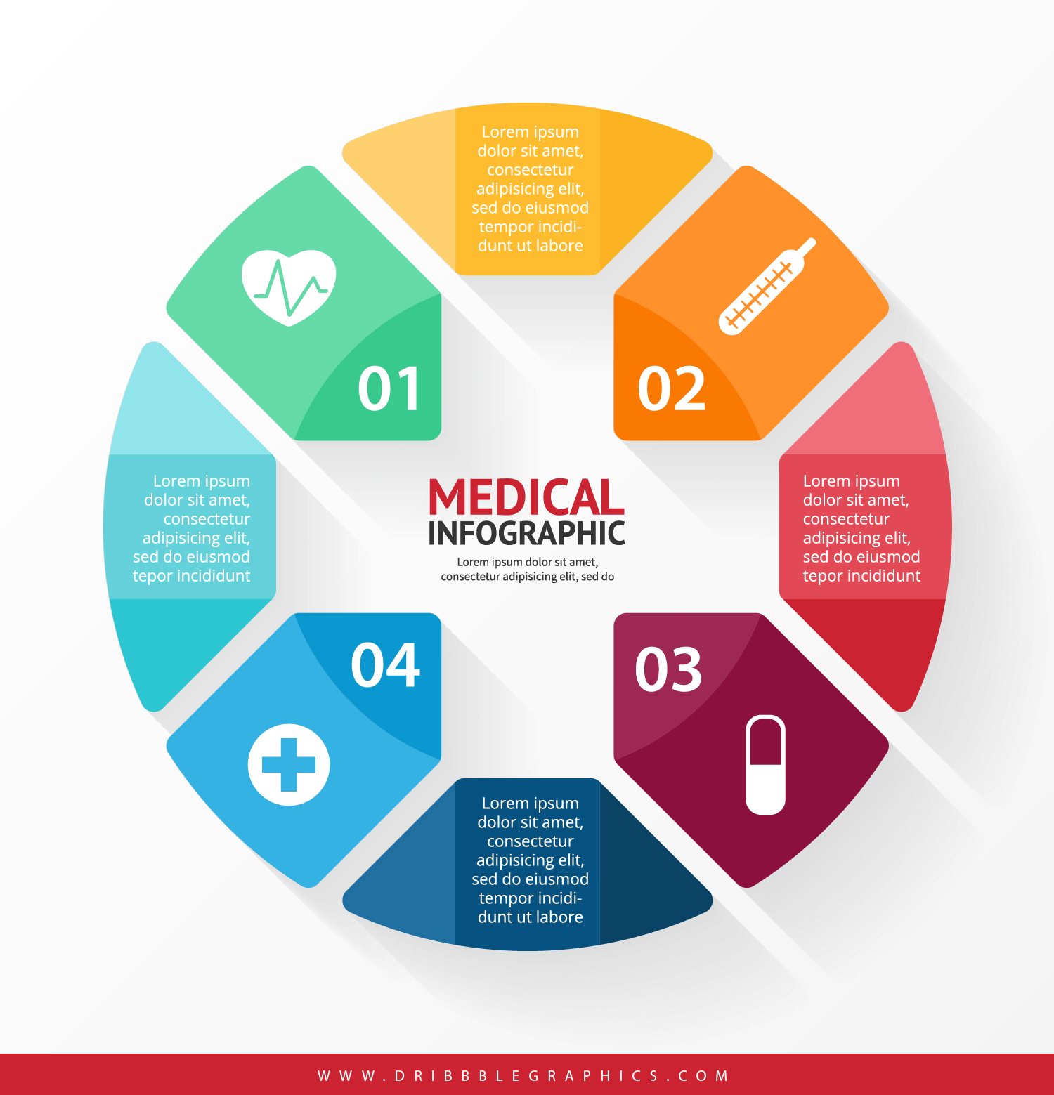 hight resolution of free medical infographic design 01