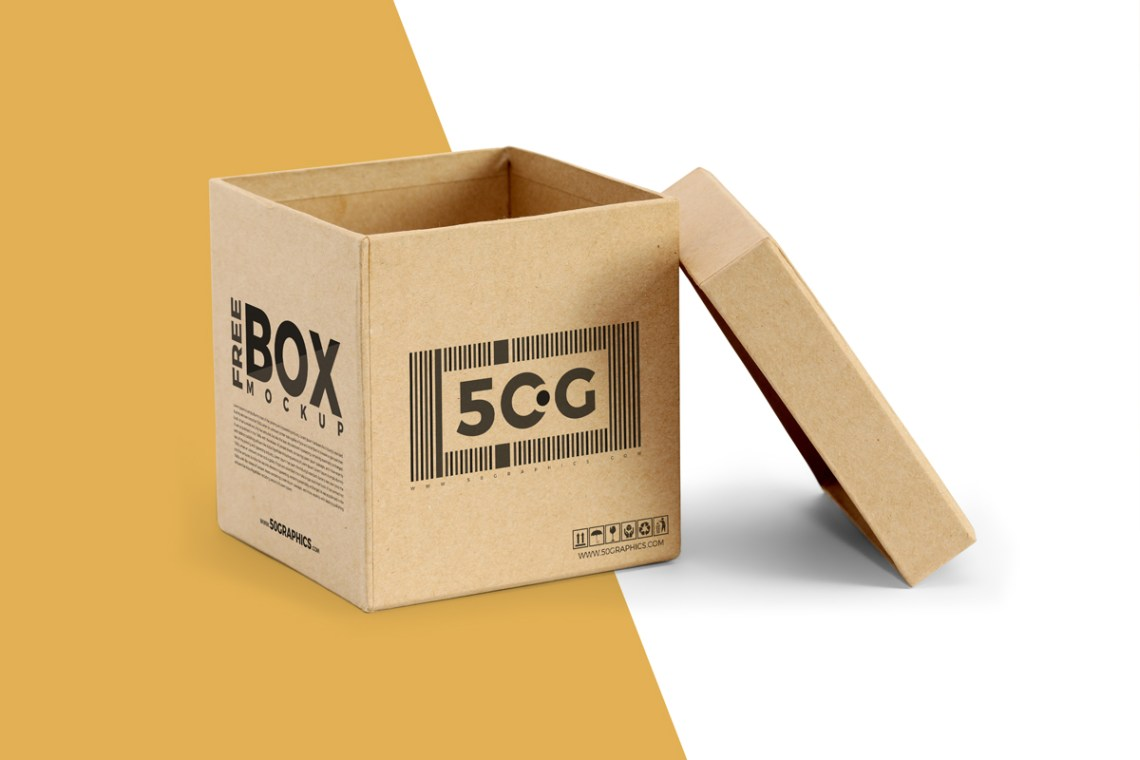Download Free Open Lid Box Packaging Mockup | Dribbble Graphics