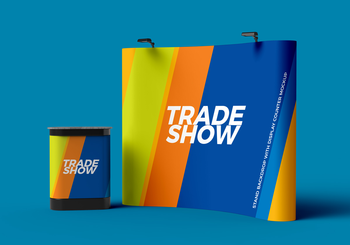 Exhibition Stand Mockup : Various tradeshow exhibition booth mockups on vectogravic