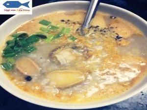 Dried abalone porridge
