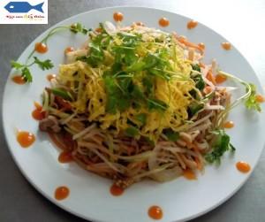 Dried squid sautéed kohlrabi