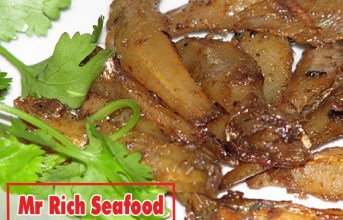 Making a pot of sweet and sour dried anchovy fried crispy delicious meal