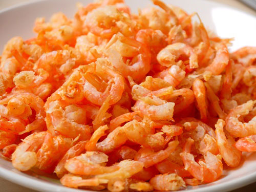 The price of dried shrimp