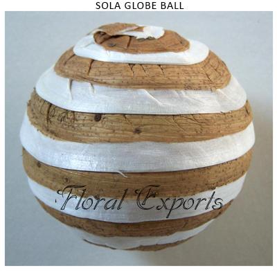 Shola Globe Ball Natural-Sola Balls Exporters