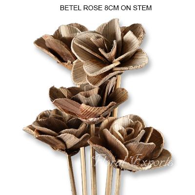 Betal Rose Flowers 8cm on Stem