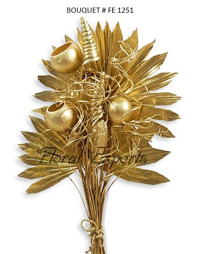 Dried Bouquet Gold - Christmas Bouquets Wholesale