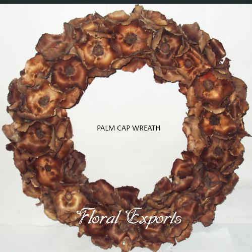 Palm Cap Wreath Natural - Christmas Wreath