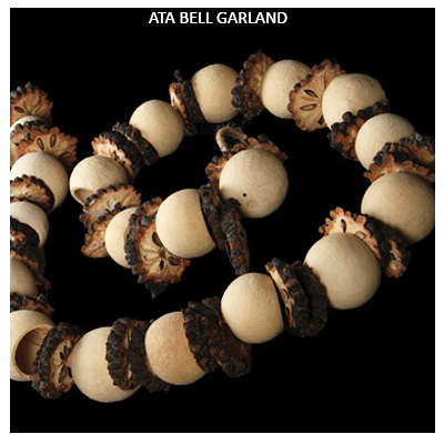 Ata Slice Bell Cup Garland - Dry Flowers Garland Wholesale