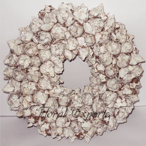 Coco Fruit Frosted Wreath - Christmas Wreath Decorations