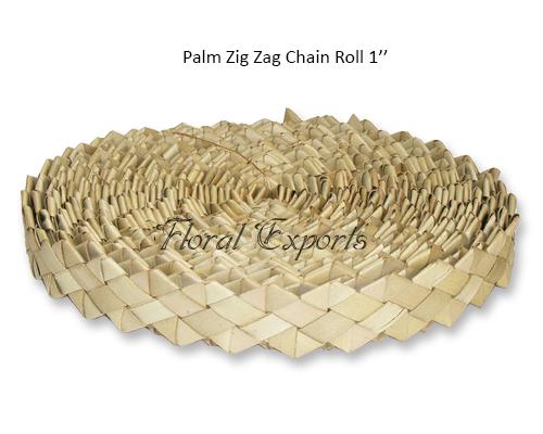 Palm Zig Zag Chain Roll 1'' - Bird Toy Bulk Manufacturer