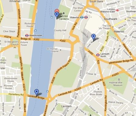 Mapa revellion Londres