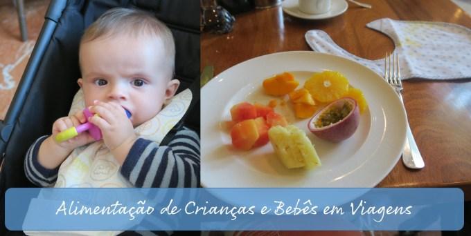 Alimentação de crianças e bebês em Viagens