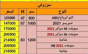 أسعار سوزوكي سويفت 2021 في مصر
