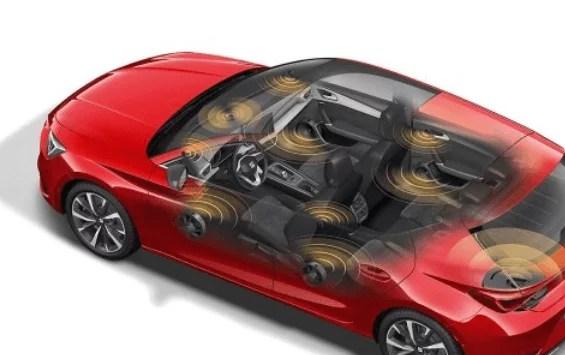 توزيع النظام الصوتي (الساوند سيستم) في السيارة