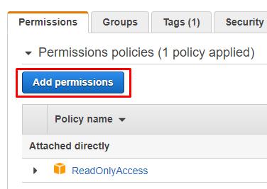 Add IAM permissions