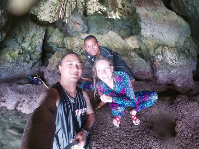 Inside Triton Cave photo by Sengai Sablan