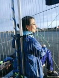 Photo Plane Stupid chained to the fence in the Heathrow action