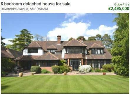 Amersham's most expensive house on the market