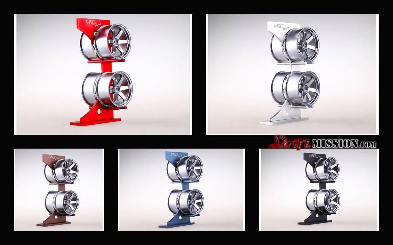 NZO 110 Scale Aluminum Wheel Display Rack DriftMission