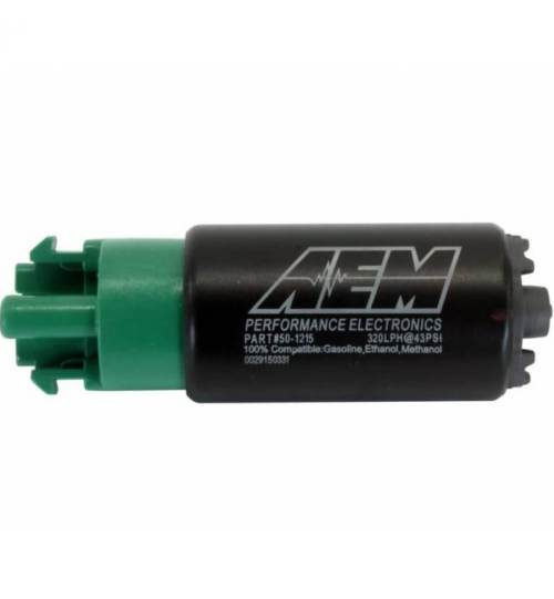 small resolution of aem e85 compatible fuel pump 65mm long 320 lph 50