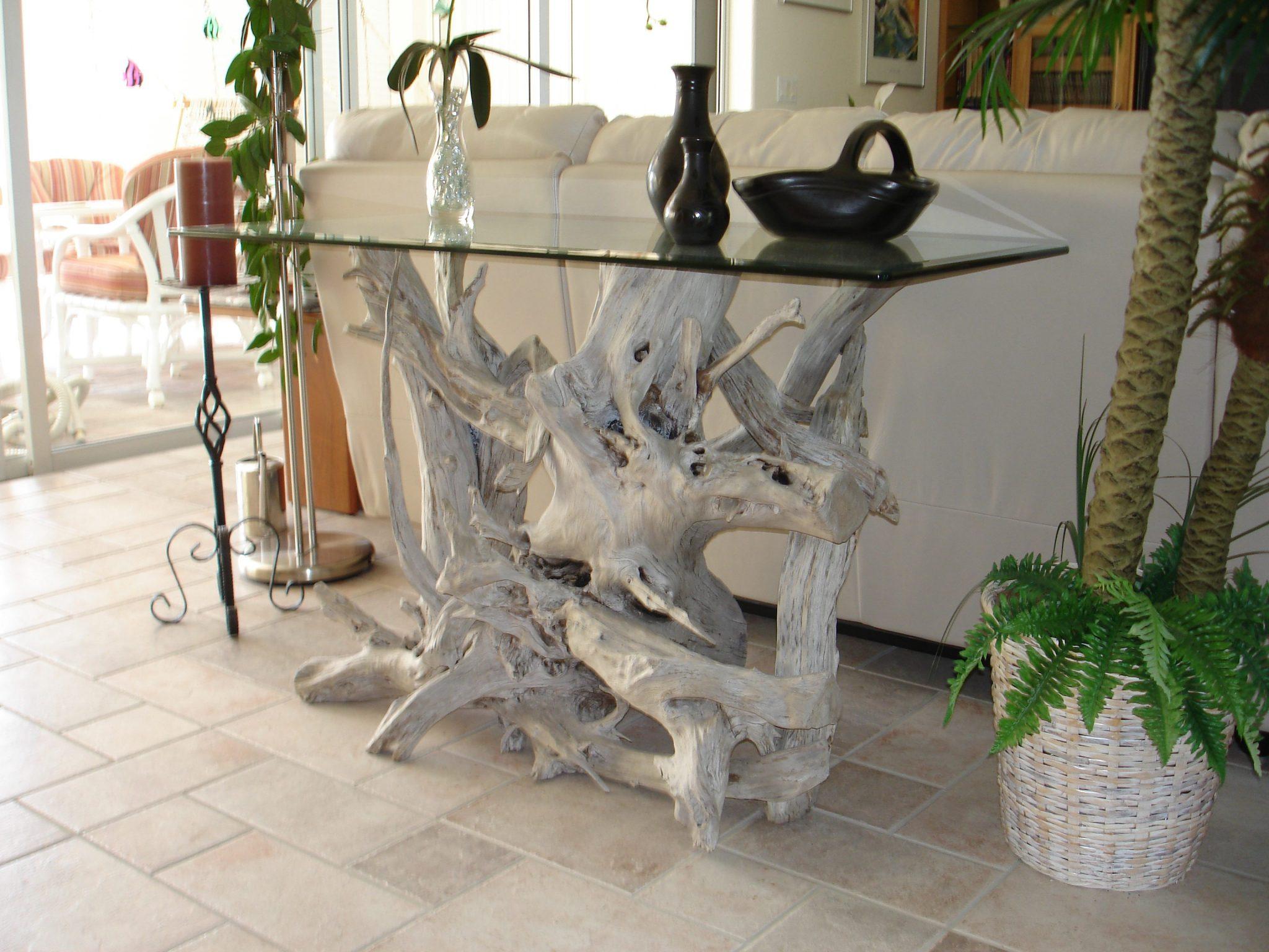 driftwood glass top tables driftwood decor. Black Bedroom Furniture Sets. Home Design Ideas