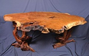 redwood burl desk