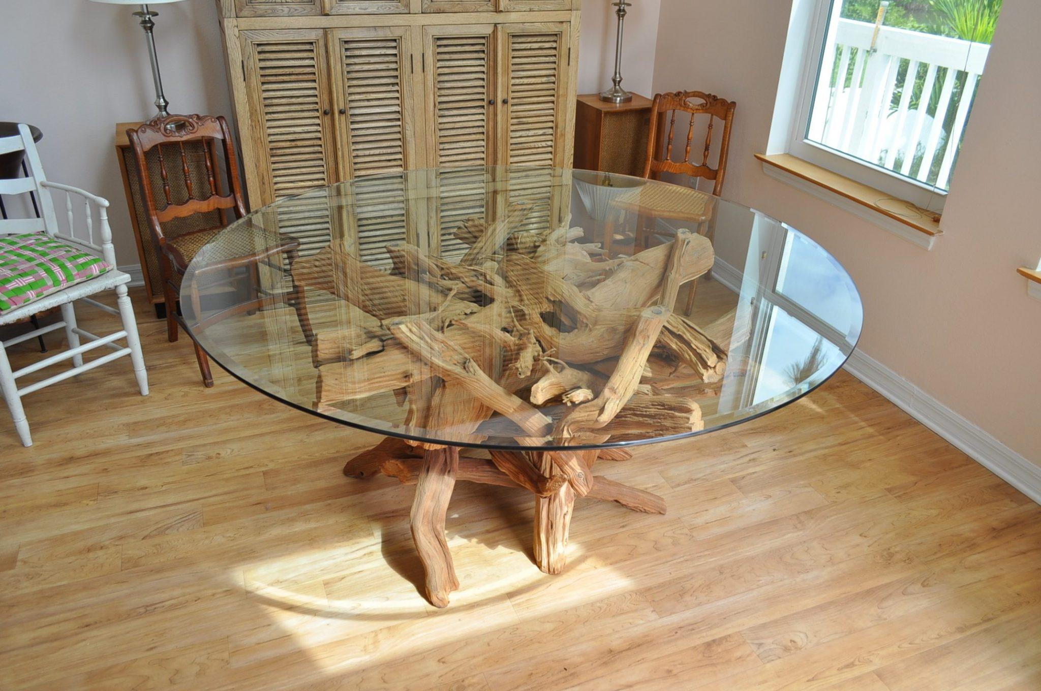 Englewood sandblasted dining table