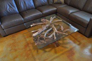 Sandblasted coffee table