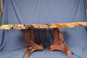 redwood dining table