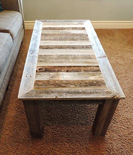 24 x 48 x 18 bretton style reclaimed wood rustic barnwood coffee table