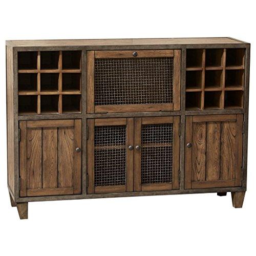 Industrial Rustic Vintage Liquor Storage Wine Rack Cart