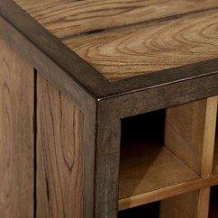 Kitchen Sideboard Cabinet Direct Industrial Rustic Vintage Liquor Storage Wine Rack Cart ...