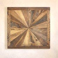 Starburst pattern wall art made from reclaimed wood - Barn ...