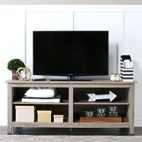 """WE Furniture 58"""" Wood TV Stand Storage Console, Driftwood ..."""