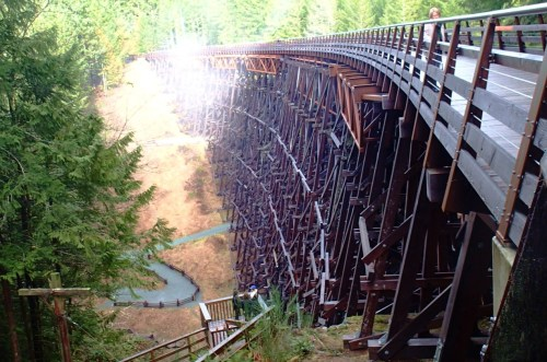 Kinsol Trestle Built by the railroad over the Koksilah River near Duncan on Vancouver Island. An amazing piece of engineering, no computers, just blood, sweat and brains.